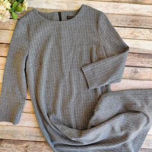 Peserico Italian Chevron Gray Dress